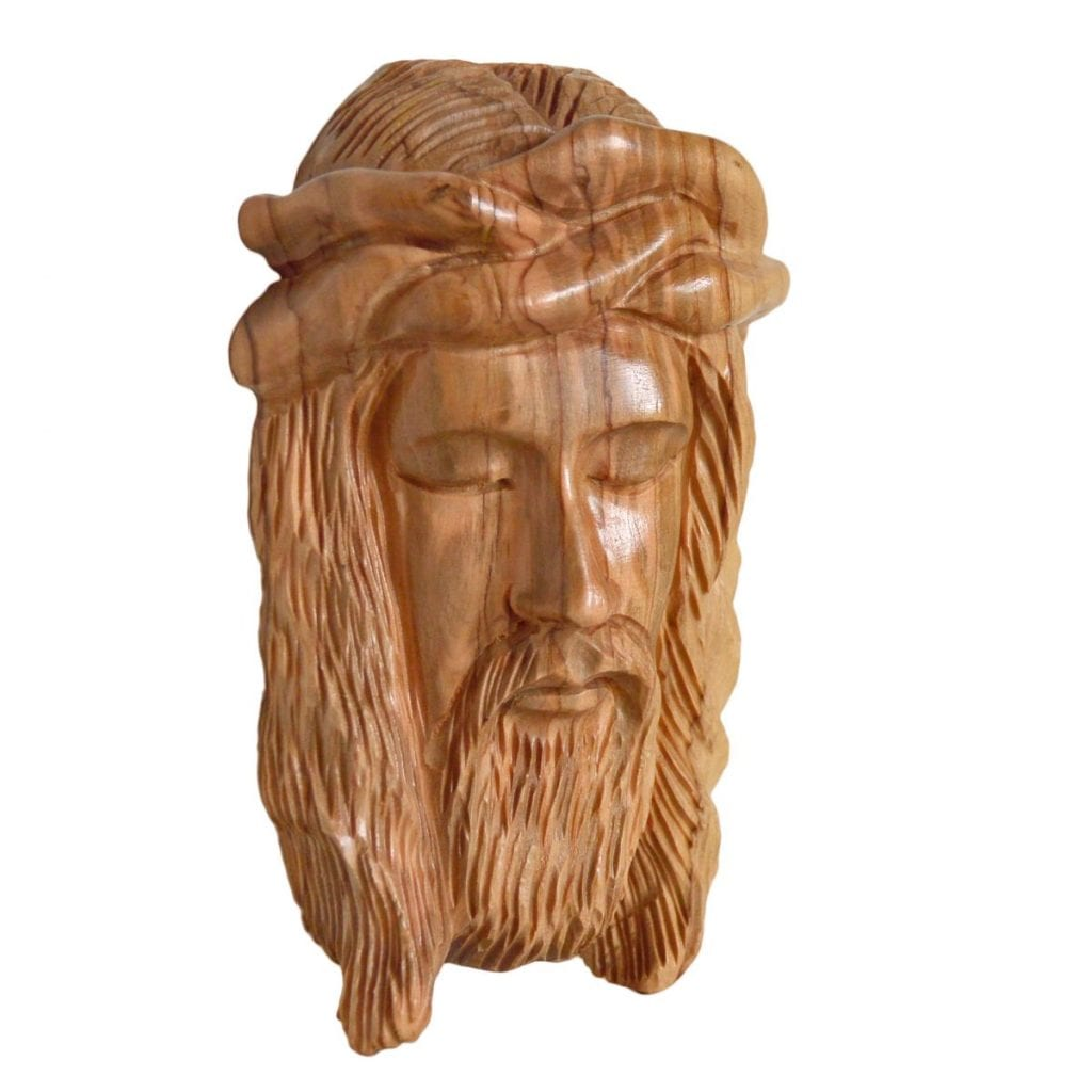 holy face of jesus with crown of thorns small from bethlehem